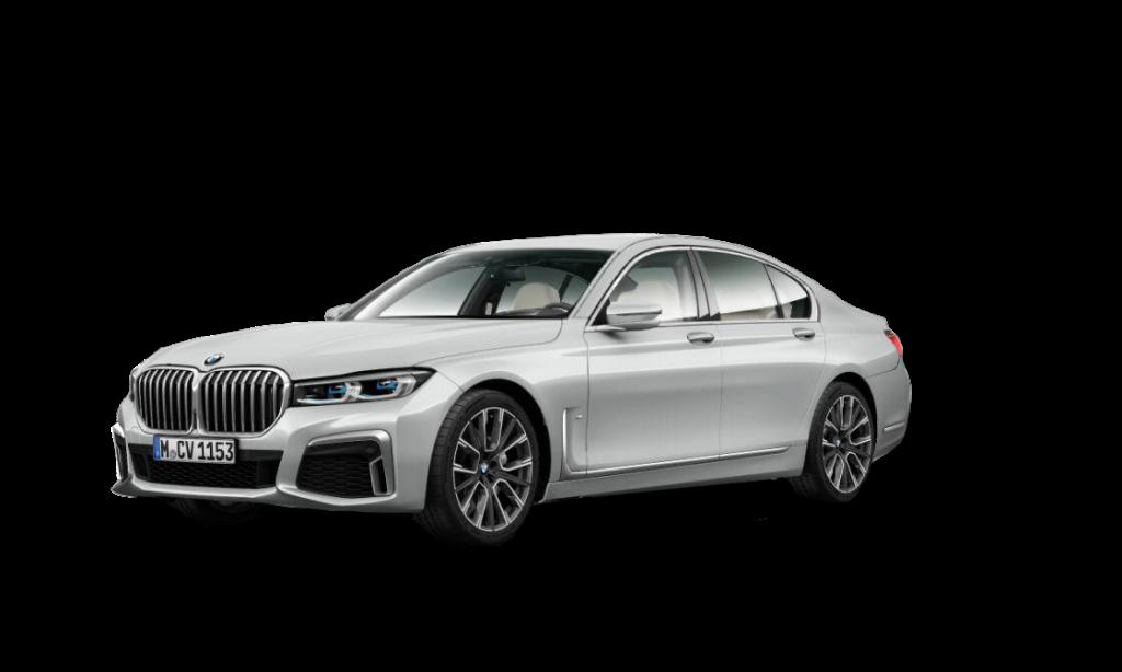 Ljusgrå 7-serie Sedan