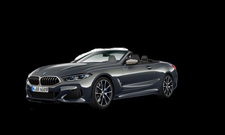 Mörkgrå 8-serie Cabriolet